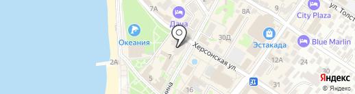 Нотариус Краснопеева С.В. на карте Геленджика