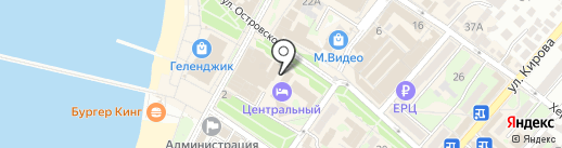 Москва на карте Геленджика