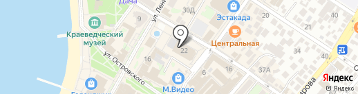 Банкомат, КБ Кубань Кредит на карте Геленджика