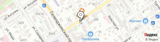 Новороссийский медицинский колледж на карте Геленджика