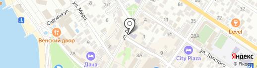 Детский сад №4 на карте Геленджика