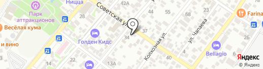 Почтовое отделение №3 на карте Геленджика