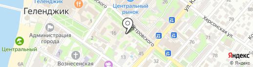 Пункт проката велосипедов на карте Геленджика