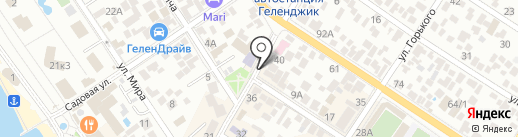 Вилка на карте Геленджика