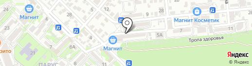 Мелис на карте Геленджика