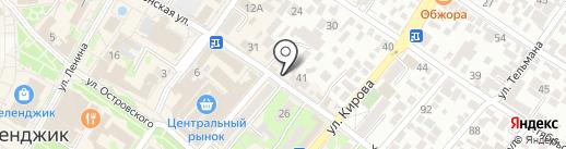 Котофей на карте Геленджика