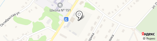 Моспино на карте Моспино