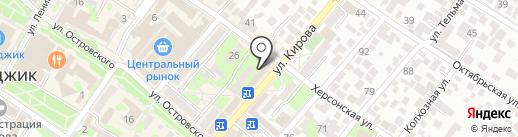 Магазин кожгалантереи на карте Геленджика