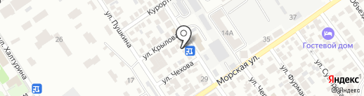 Спартак на карте Геленджика