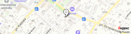 Vista на карте Геленджика
