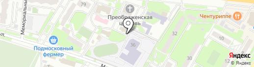 Храм-крестильня Иверской иконы Божией Матери на карте Жуковского