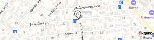 Продуктовый магазин на Вишневой на карте Геленджика