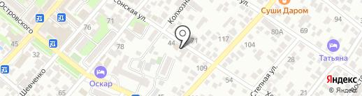 Анастасия на карте Геленджика