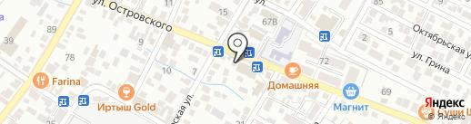 Светлячок на карте Геленджика