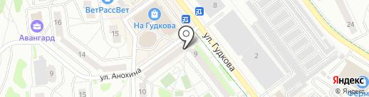 Киоск по продаже печатной продукции на карте Жуковского