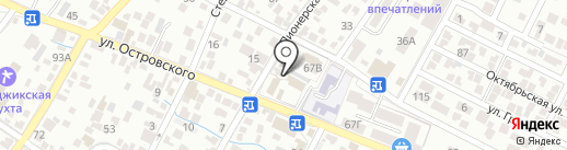 Магазин автозапчастей на карте Геленджика