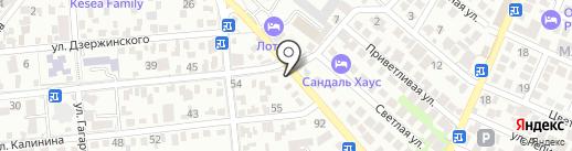 Дом текстиля на карте Геленджика
