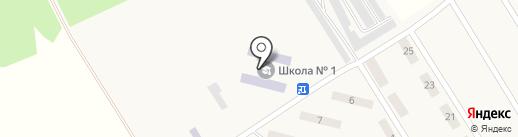Макеевская общеобразовательная школа I-III ступеней №1 на карте Ханжёнково-Северного