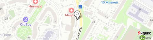 РП ЖУКОВСКИЙ на карте Жуковского