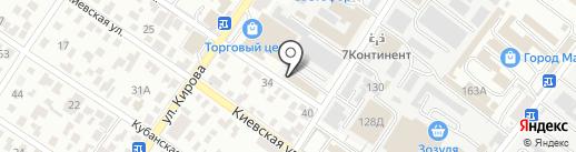 Светоч на карте Геленджика