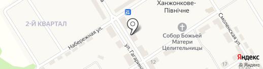 Хозтовары, магазин, СПД Деркач Н.И. на карте Ханжёнково-Северного