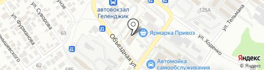 Привоз на карте Геленджика