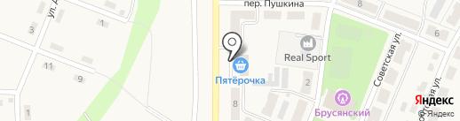 Пятёрочка на карте Брусянского