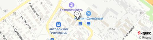Строительно-монтажное управление №55 на карте Геленджика