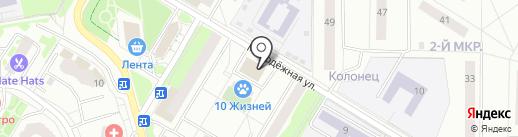 Магнит на карте Жуковского