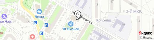 Магазин нижнего белья на карте Жуковского
