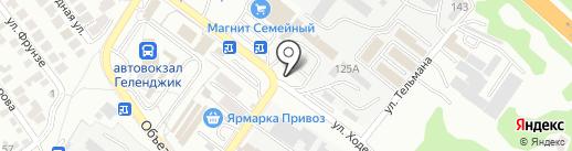 Автомойка самообслуживания на карте Геленджика