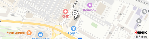 Русонова на карте Жуковского