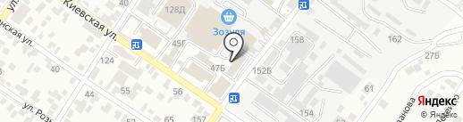 Строительный на карте Геленджика