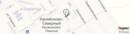 Калач, продовольственный магазин на карте Ханжёнково-Северного