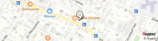 Эва на карте Геленджика