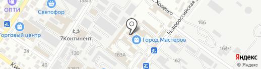Автор на карте Геленджика