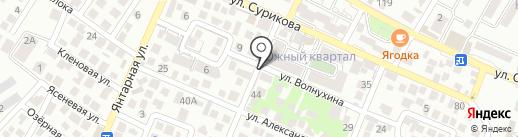Лилия на карте Геленджика