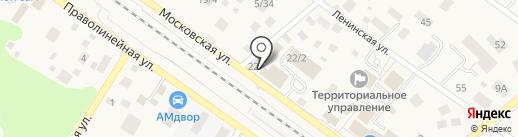 Магазин посуды и постельного белья на карте Ильинского