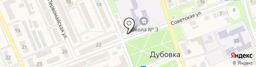 Радуга на карте Дубовки