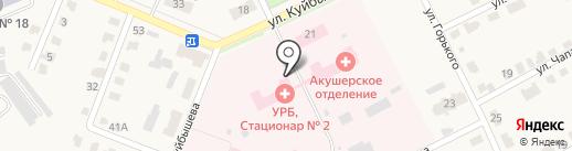 Узловская районная больница на карте Дубовки