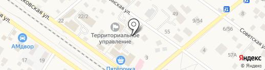 Адамант на карте Ильинского