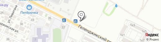 Алые паруса на карте Геленджика