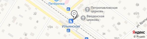 Ильинская на карте Ильинского