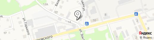 Автостоянка на ул. Островского на карте Дубовки