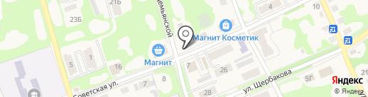 Киоск по продаже печатной продукции на карте Дубовки