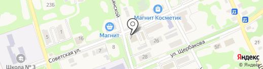 Магазин продуктов на карте Дубовки