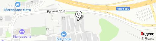 ТРЕСТ на карте Жуковского