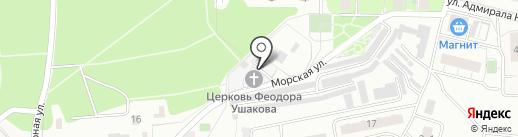 Храм святого праведного воина Феодора (Ушакова) в Купавне на карте Железнодорожного