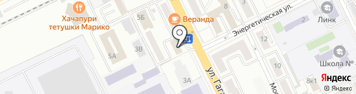 Магазин обуви на ул. Гагарина на карте Жуковского