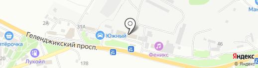 Техкомплект на карте Геленджика